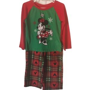 Minnie Mouse Girl Toddler Holiday Pjs